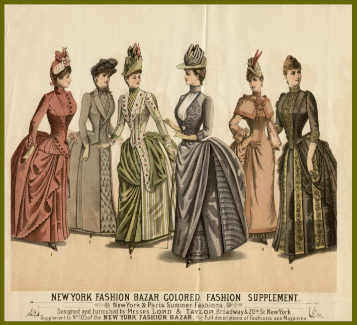 Victorian day dresses and ball gowns